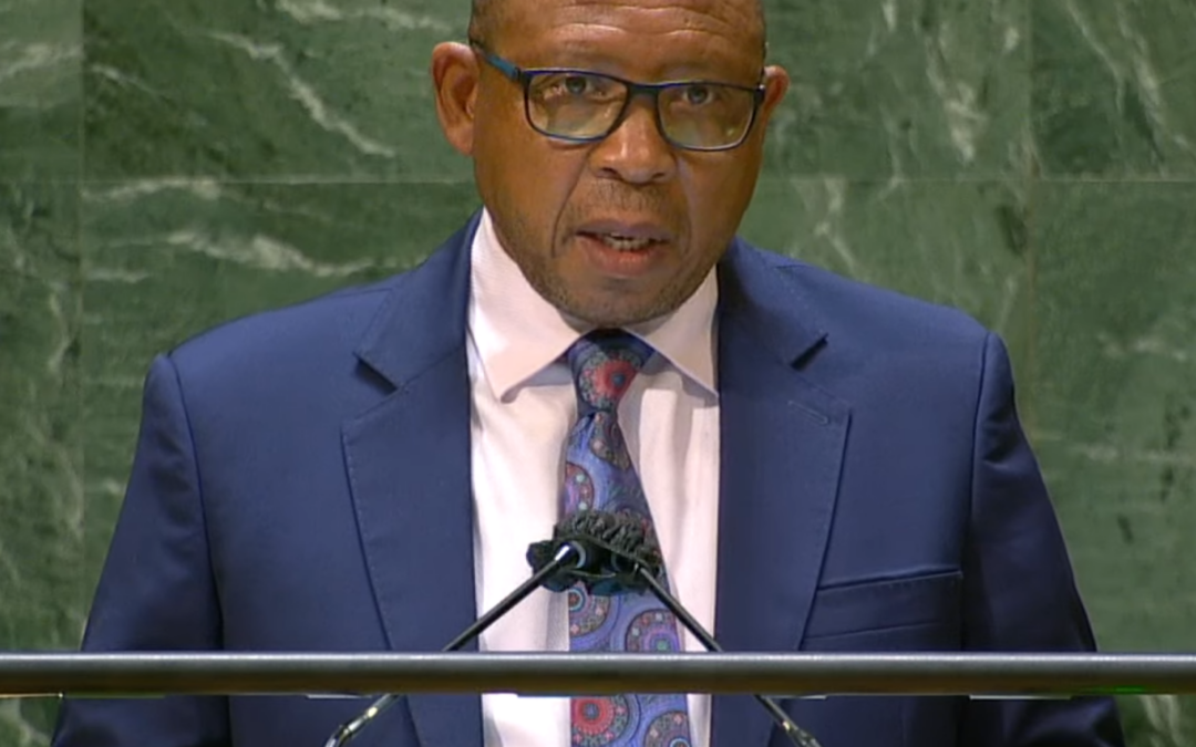 Prime Minister, Dr. Moeketsi Majoro on Integrated Catchment Management at the UN General Assembly